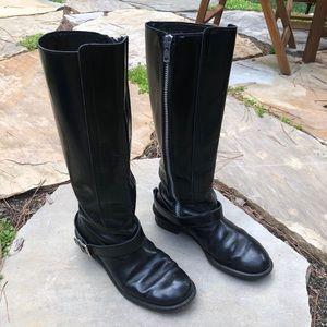 Chloe Black Moto Boots 11